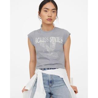エイチアンドエム(H&M)のh&m ジャージーショートトップス(Tシャツ(半袖/袖なし))