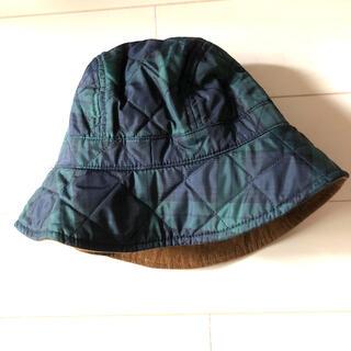 ムジルシリョウヒン(MUJI (無印良品))の無印良品 帽子 52cm ブラックウォッチ コーデュロイ あごひも ハット(帽子)
