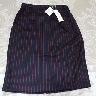 ローリーズファーム(LOWRYS FARM)の未使用 mikoa ミコア ピンストライプ タイトスカート(ひざ丈スカート)