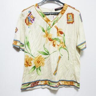 レオナール(LEONARD)のレオナール 半袖カットソー サイズLL 花柄(カットソー(半袖/袖なし))