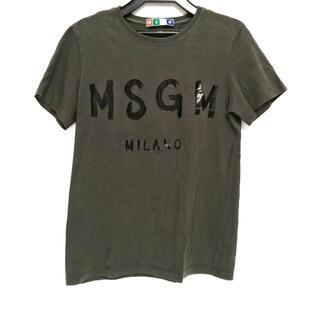 エムエスジイエム(MSGM)のエムエスジィエム 半袖Tシャツ サイズXS -(Tシャツ(半袖/袖なし))