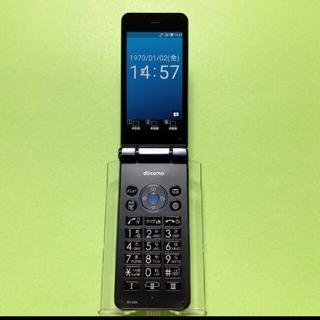 アクオス(AQUOS)のSIMフリー SH-02K ブルーブラック 5 カメラレスケータイ ドコモ(携帯電話本体)