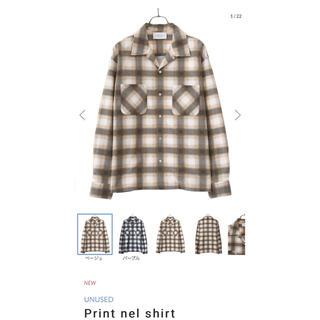 アンユーズド(UNUSED)のUNUSED Print nel shirt(シャツ)