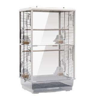 クリアタイプ大型鳥かご ペットの観賞に ゲージ ケージ バードゲージ 鳥小屋