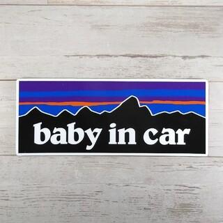 BABY IN CARマグネットステッカー パタゴニア チャイルドシート(車外アクセサリ)