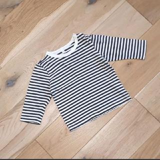 ムジルシリョウヒン(MUJI (無印良品))の無印良品 良品計画 長袖 Tシャツ カットソー 80サイズ ボーダー(シャツ/カットソー)