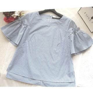 ルネ(René)の極美品♡ルネ♡ストライプ ブラウス(シャツ/ブラウス(半袖/袖なし))