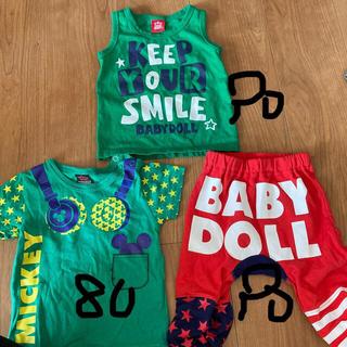 ベビードール(BABYDOLL)のbaby doll 3つセット 80 90(Tシャツ/カットソー)