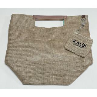 カルディ(KALDI)のKALDI ジュート素材バッグ < グリーン > カルディ 2021 夏 ポーチ(その他)