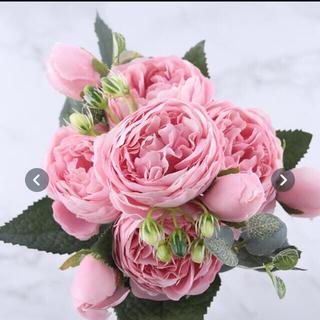 新品 薔薇 造花 ピンク バラ