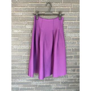 ルシェルブルー(LE CIEL BLEU)のルシェルブルー パープルフレアスカート(ひざ丈スカート)