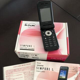 エルジーエレクトロニクス(LG Electronics)のFOMA SIMPURE L600i シンピュア(携帯電話本体)