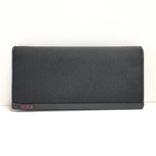 トゥミ(TUMI)のトゥミ 長財布 - 黒 TUMIナイロン×レザー(財布)