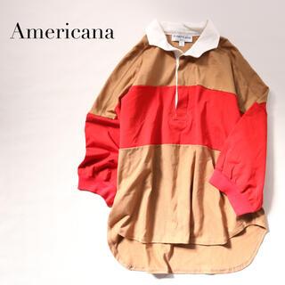 アメリカーナ(AMERICANA)の【美品】Americana✨ラガーシャツ B&Y購入 アメリカーナ 七分袖(Tシャツ(長袖/七分))