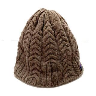 パタゴニア(patagonia)のパタゴニア ニット帽 ダークブラウン(ニット帽/ビーニー)