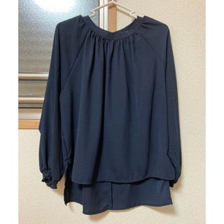ショコラフィネローブ(chocol raffine robe)のブラウス ネイビー(シャツ/ブラウス(長袖/七分))