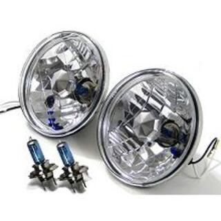 スズキ(スズキ)のスズキ ジムニー 丸形2灯クリアヘッドライト H4バルブ・ポジション付き(車外アクセサリ)