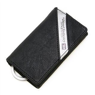 ディーゼル(DIESEL)のディーゼル DIESEL ヤギ革 6連キーケース ブラック/ シルバー(キーケース)