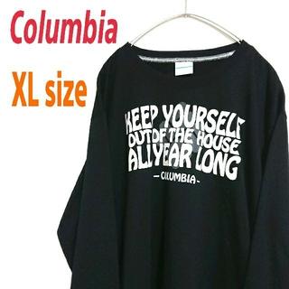 Columbia - Columbia コロンビア ビッグサイズ 黒 ロンT カットソー  デカロゴ
