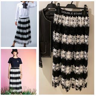 ダブルスタンダードクロージング(DOUBLE STANDARD CLOTHING)の可愛い❣️ケミカルスターレーススカート 希少サイズ34 ⭐️(ロングスカート)
