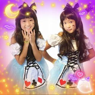 ワンピース ドレス 不思議な 妖精 子供 衣装 コスプレ仮装 女の子アリスSML(衣装一式)
