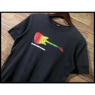 バーバリーブラックレーベル(BURBERRY BLACK LABEL)の★ G② バーバリー ブラックレーベル ビートルズ ギター Tシャツ 紺 M(Tシャツ/カットソー(半袖/袖なし))