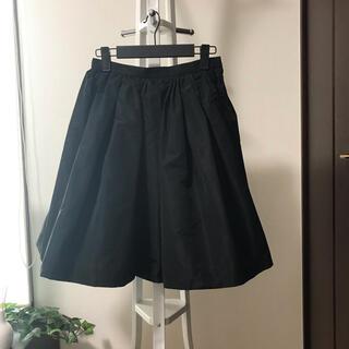 ミュウミュウ(miumiu)の miu miu ミュウミュウ スカート ブラック(ひざ丈スカート)