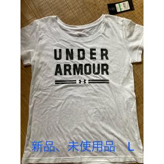 アンダーアーマー(UNDER ARMOUR)のアンダーアーマーTシャツ  レディースL   ホワイト(Tシャツ(半袖/袖なし))