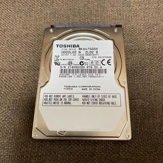 東芝 - 2.5 インチ 使用時間少 TOSHIBA 640GB ハードディスク