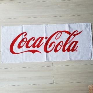 コカコーラ(コカ・コーラ)のCoca-Colaフェイスタオル💡(タオル/バス用品)