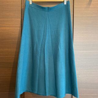 ミラオーウェン(Mila Owen)のMilaOwen モスグリーンニットスカート(ひざ丈スカート)