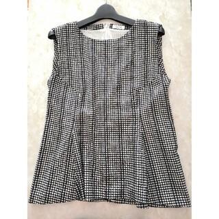 フレイアイディー(FRAY I.D)のFRAY ID💕裾フリル💕ギンガムチェック柄カットソー(カットソー(半袖/袖なし))