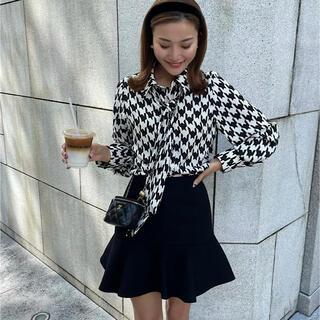 エイミーイストワール(eimy istoire)のシェリエ バックZIPウールミニスカート 完売品(ミニスカート)