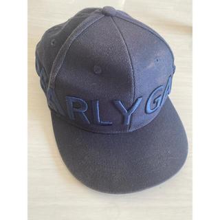 パーリーゲイツ(PEARLY GATES)のパーリーゲイツ ネイビー ゴルフ フラット キャップ 3D 刺繍 帽子(キャップ)