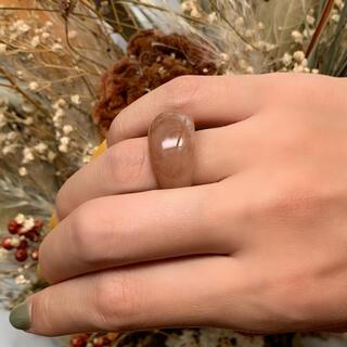 ケービーエフ(KBF)の【韓国アクセ】クリアリング ぶっくり 指輪 可愛い 海外輸入品(リング(指輪))