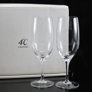 ヨンドシー ワイングラス×2 H21cm クリスタル クリア 食器