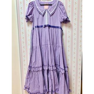 Emily Temple cute - maria pipi セーラーカラーチェックレースドレス