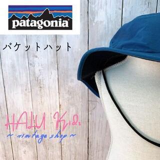 パタゴニア(patagonia)のPatagonia パタゴニア バケットハット 青緑 ビーチ帽子 キッズ(その他)