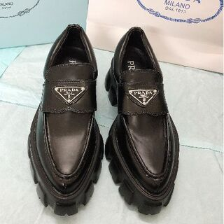 PRADA - 厚底革靴#prada、プラダモカシン、ローファー