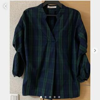 ショコラフィネローブ(chocol raffine robe)のショコラフィネローブ チェック柄シャツブラウス(シャツ/ブラウス(長袖/七分))