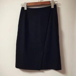 イエナスローブ(IENA SLOBE)のイエナ スローブ iena slobe タイトスカート ウール 黒(ひざ丈スカート)