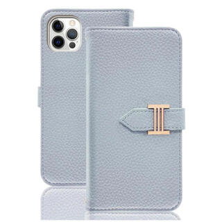iPhone13 Pro ケース 手帳 カードポケット スタンド機能 ブルー(iPhoneケース)