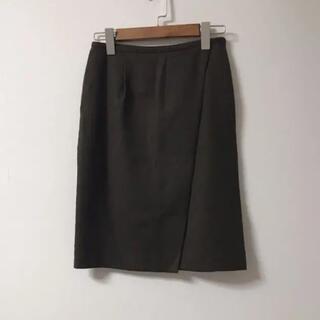 イエナスローブ(IENA SLOBE)のイエナ スローブ iena slobe ウールタイトスカート カーキ(ひざ丈スカート)