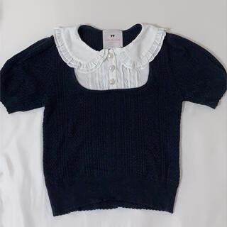 ロディスポット(LODISPOTTO)のmille fille closet 丸襟トップス(ニット/セーター)