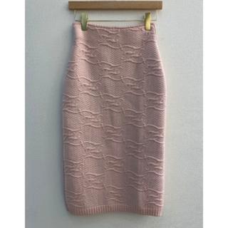 フェンディ(FENDI)のFENDI  ピンクのウールとカシミアのスカート(ひざ丈スカート)