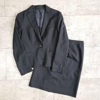 スーツカンパニー(THE SUIT COMPANY)のスーツカンパニー ☆ スーツ スカート 40 ブラック 薄手 ストレッチ(スーツ)