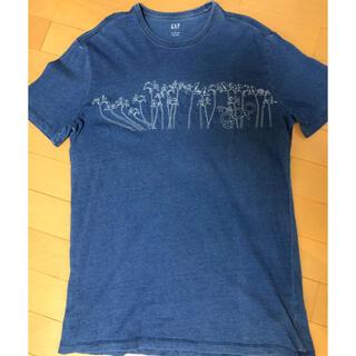ギャップ(GAP)のgap パームツリー 刺しゅう ユーズド ライク コットン Tシャツ 送料込(Tシャツ/カットソー(半袖/袖なし))