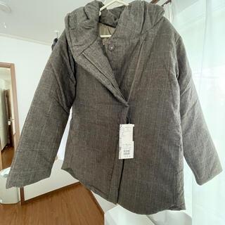 サマンサモスモス(SM2)のサーモライト中綿フードジャケット(ブラウン)(テーラードジャケット)
