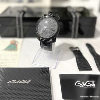 GaGa MILANO - ガガミラノ マヌアーレ48mm オールブラック 手巻き 美品!