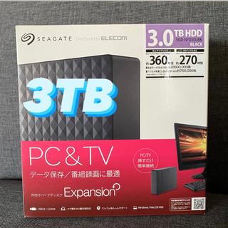 ELECOM - 外付けハードディスク 3TB テレビ 録画 SGD-NY030UBK